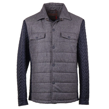 Luciano Barbera Quilted Puffer Shirt-Jacket - Top Shelf Apparel