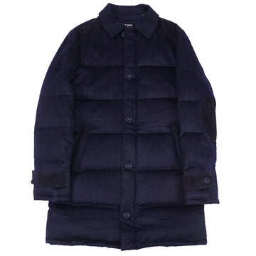 Kiton Down-Filled Quilted Cashmere Coat