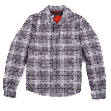 Isaia Printed Quilted Puffer Shirt-Jacket