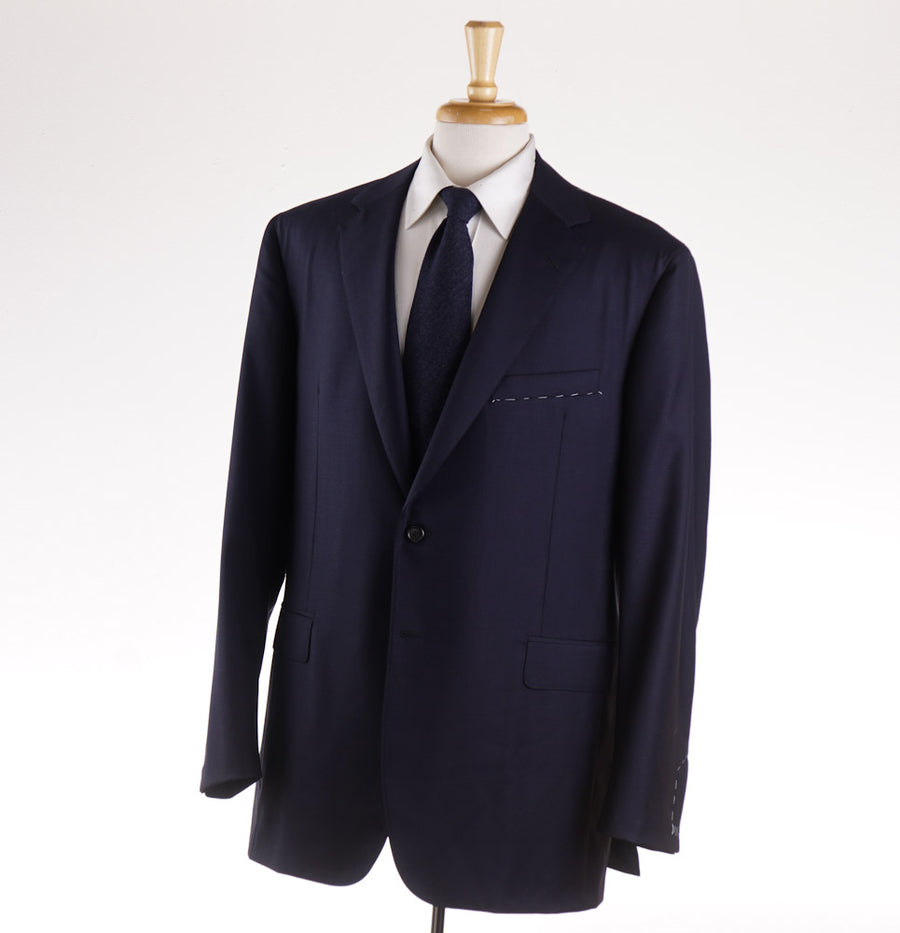 Oxxford 'Capitol' Wool Suit in Solid Navy - Top Shelf Apparel