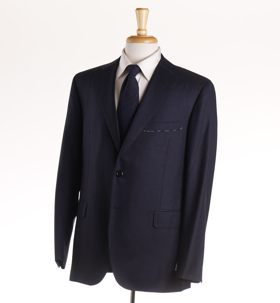 Oxxford Solid Navy 140s Wool Suit - Top Shelf Apparel