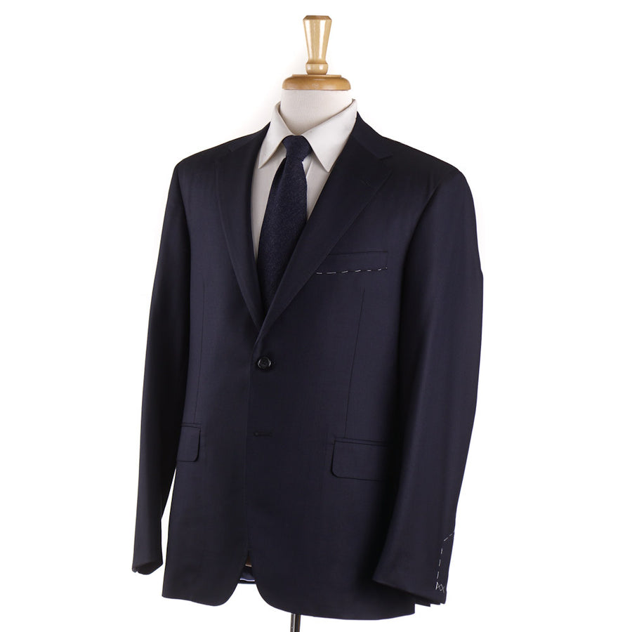 Oxxford 'Randolph' Solid Navy 140s Wool Suit