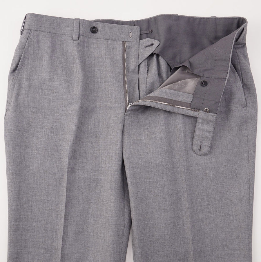 Oxxford Light Gray Super 140s Wool Pants