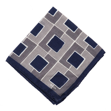 Roda Geometric Wool-Silk Pocket Square