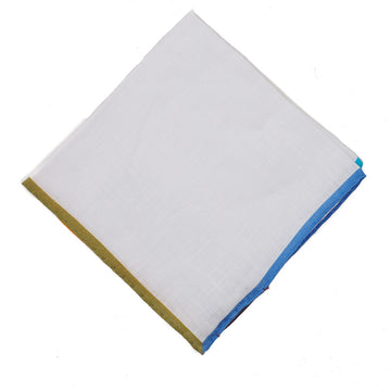 Roda Contrast Linen Pocket Square