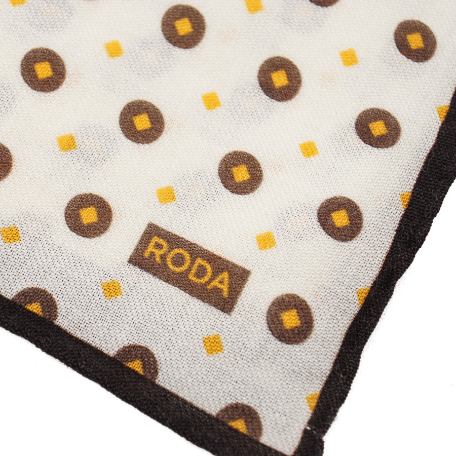 Roda Jacquard Print Wool Pocket Square