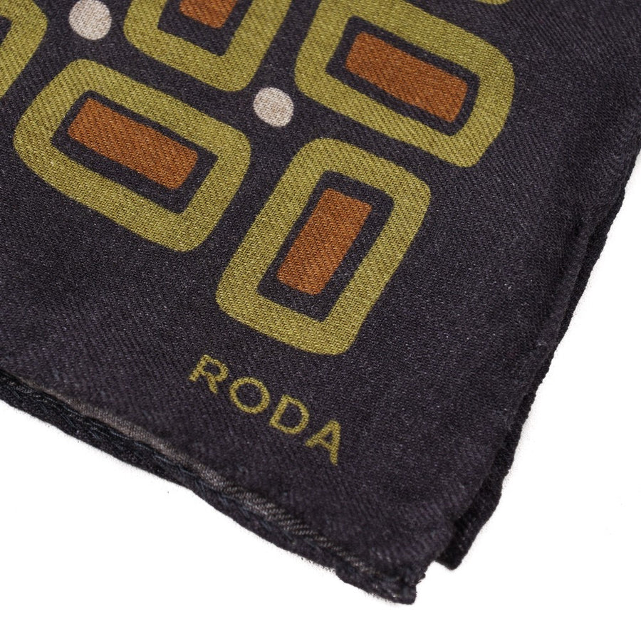 Roda Geometric Wool Pocket Square