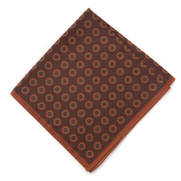 Luciano Barbera Floral Medallion Print Silk Pocket Square