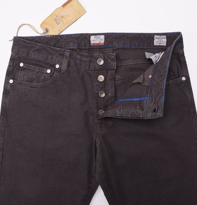 PT01 Dark Brown Chino-Jeans 36W - Top Shelf Apparel - 3