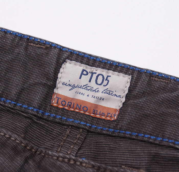 PT01 Dark Brown Chino-Jeans 36W - Top Shelf Apparel - 5