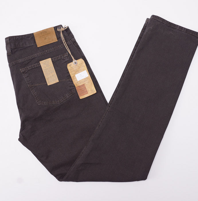 PT01 Dark Brown Chino-Jeans 36W - Top Shelf Apparel - 1