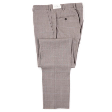 Luigi Bianchi Dove Gray Check Wool Pants