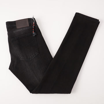 Marco Pescarolo Slim Jeans in Black Kurabo Denim