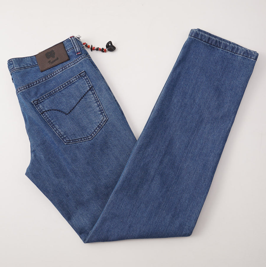 Marco Pescarolo Cotton-Cashmere Jeans in Medium Blue
