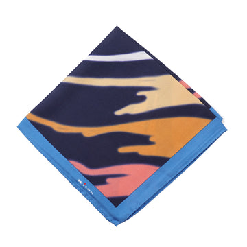 Kiton Watercolor Print Silk Pocket Square - Top Shelf Apparel