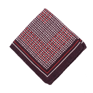Ermenegildo Zegna Wool and Silk Pocket Square