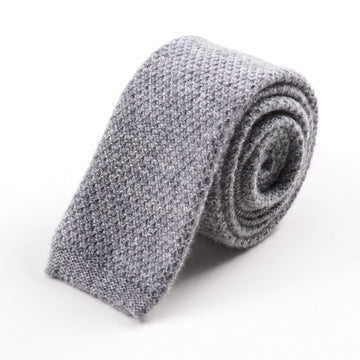 Roda Heather Gray Knit Cashmere Tie