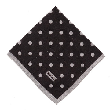 Roda Dot Print Wool-Silk Pocket Square