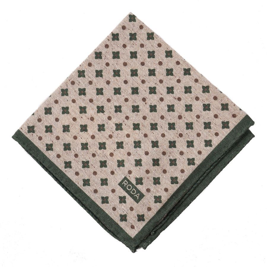 Roda Foulard Wool-Silk Pocket Square