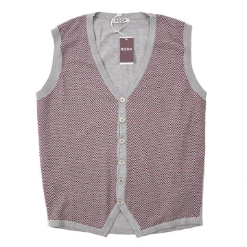Roda Dot Patterned Cardigan Sweater Vest