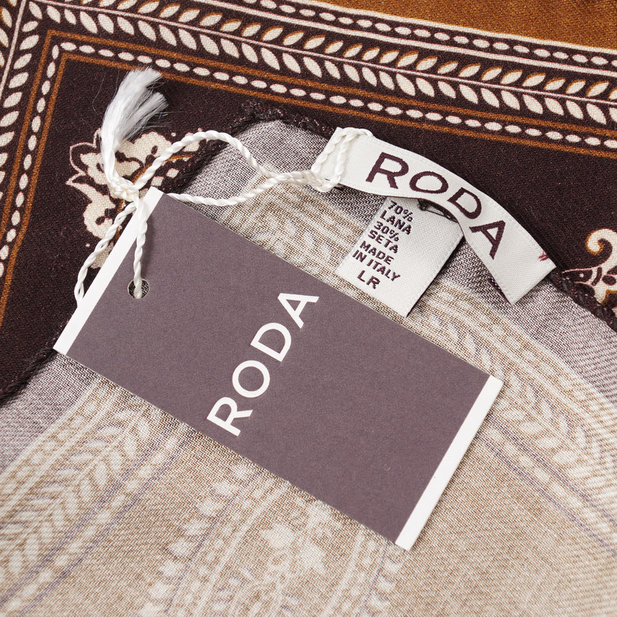 Roda Wool and Silk Pocket Square