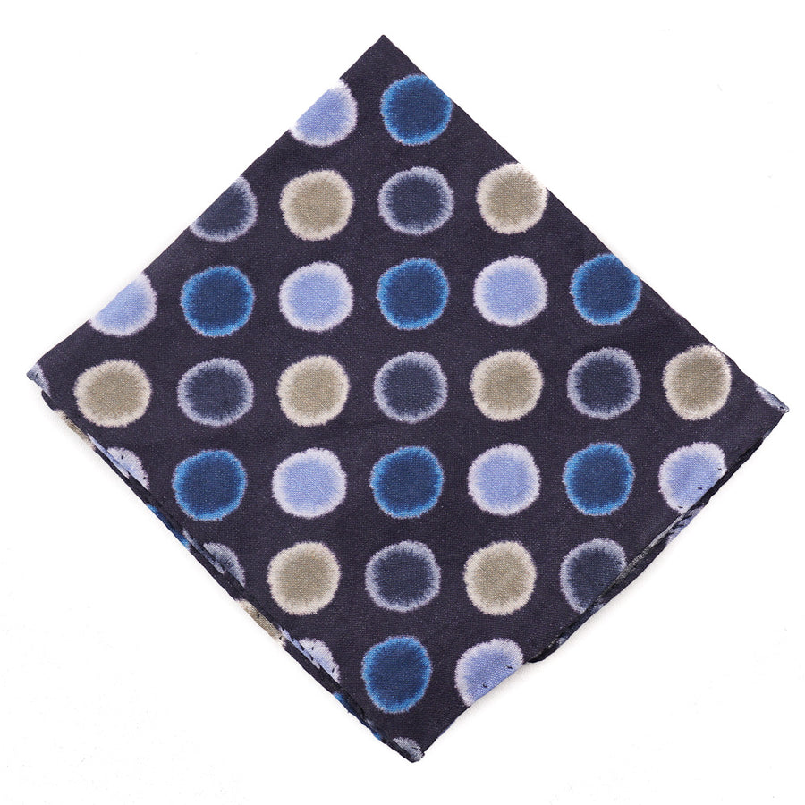 Roda Exploded Print Linen Pocket Square