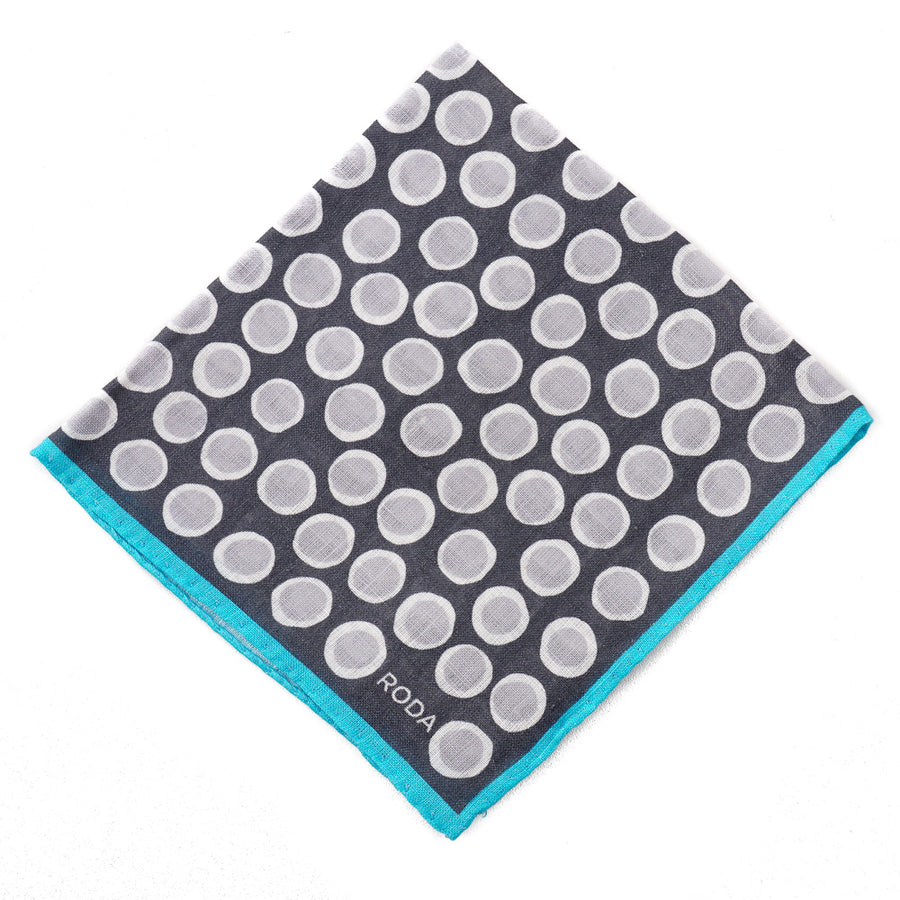 Roda Printed Linen Pocket Square