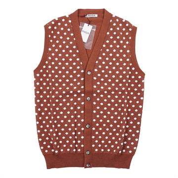 Roda Patterned Cardigan Sweater Vest - Top Shelf Apparel