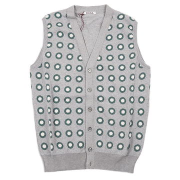 Roda Patterned Cardigan Sweater Vest