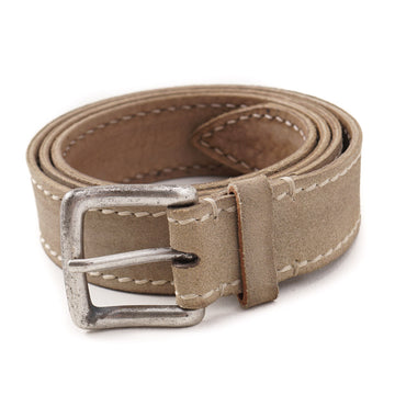 Santoni Casual Suede Belt in Beige
