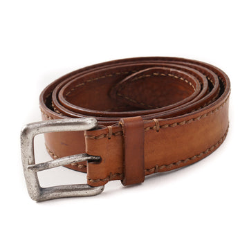 Santoni Casual Leather Belt in Whiskey Brown