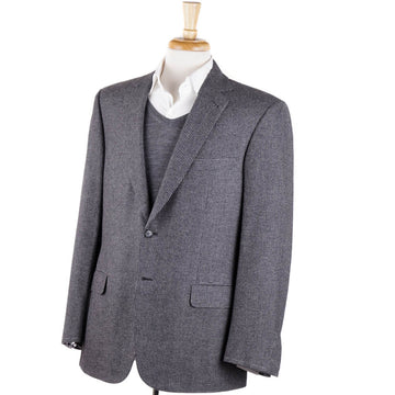 Brioni Gray Wool-Cashmere-Silk Sport Coat