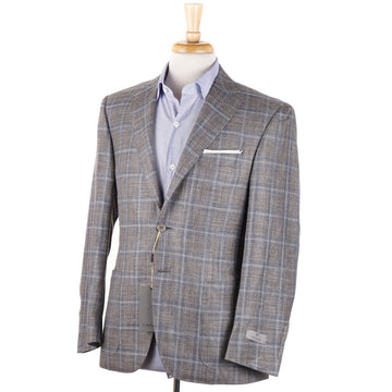 Canali Layered Check Wool-Silk-Linen Sport Coat