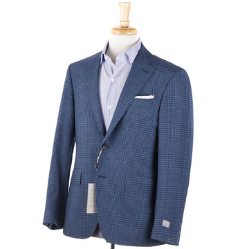 Canali Blue Check Wool 'Kei' Sport Coat