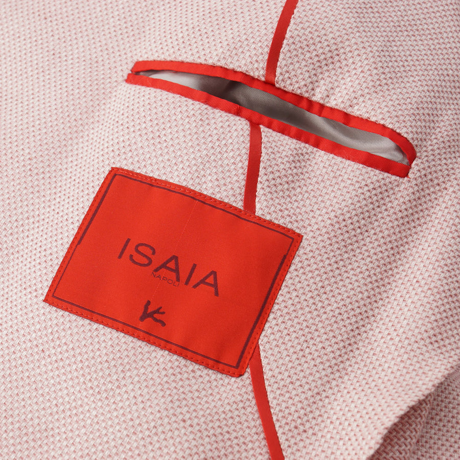Isaia Light Pink Silk-Linen-Wool Sport Coat