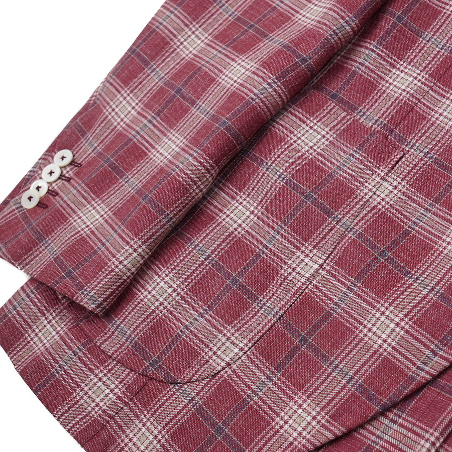 Isaia Berry Check 'Summer Delain' Sport Coat