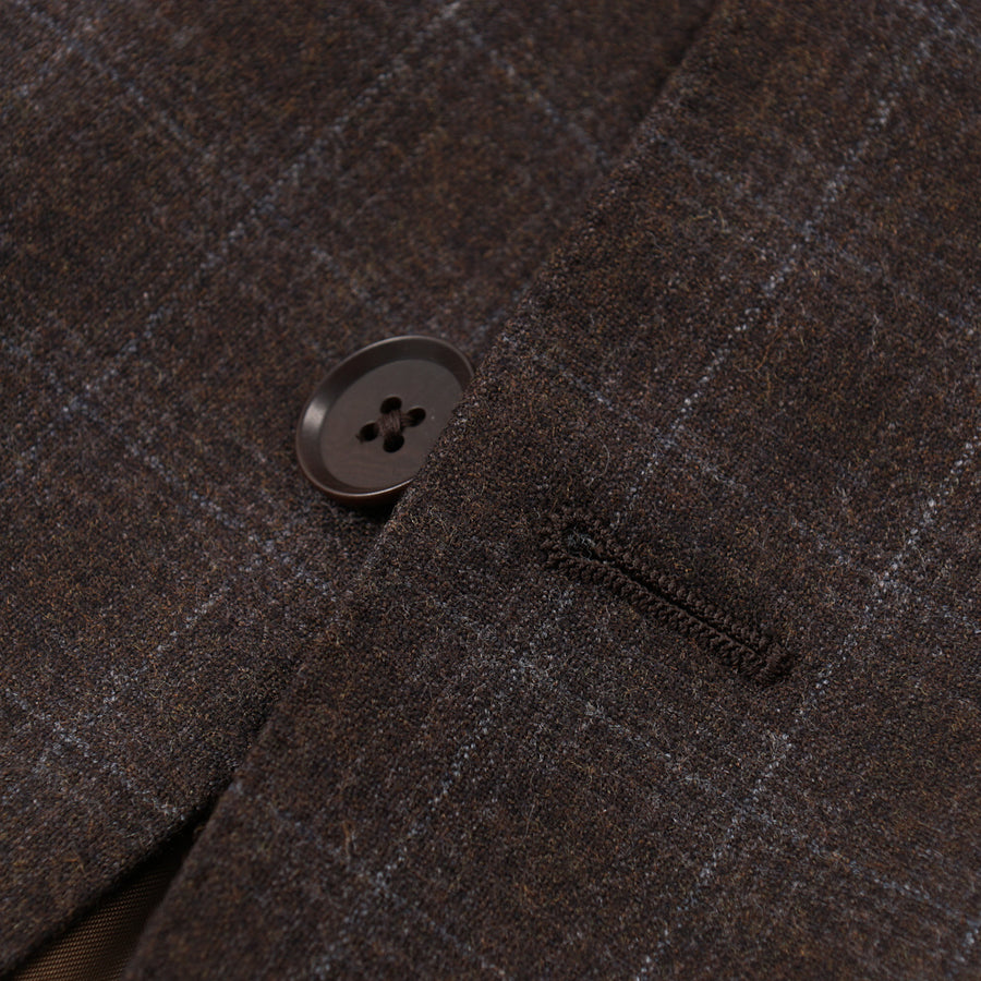 Isaia Check Patterned Wool Sport Coat