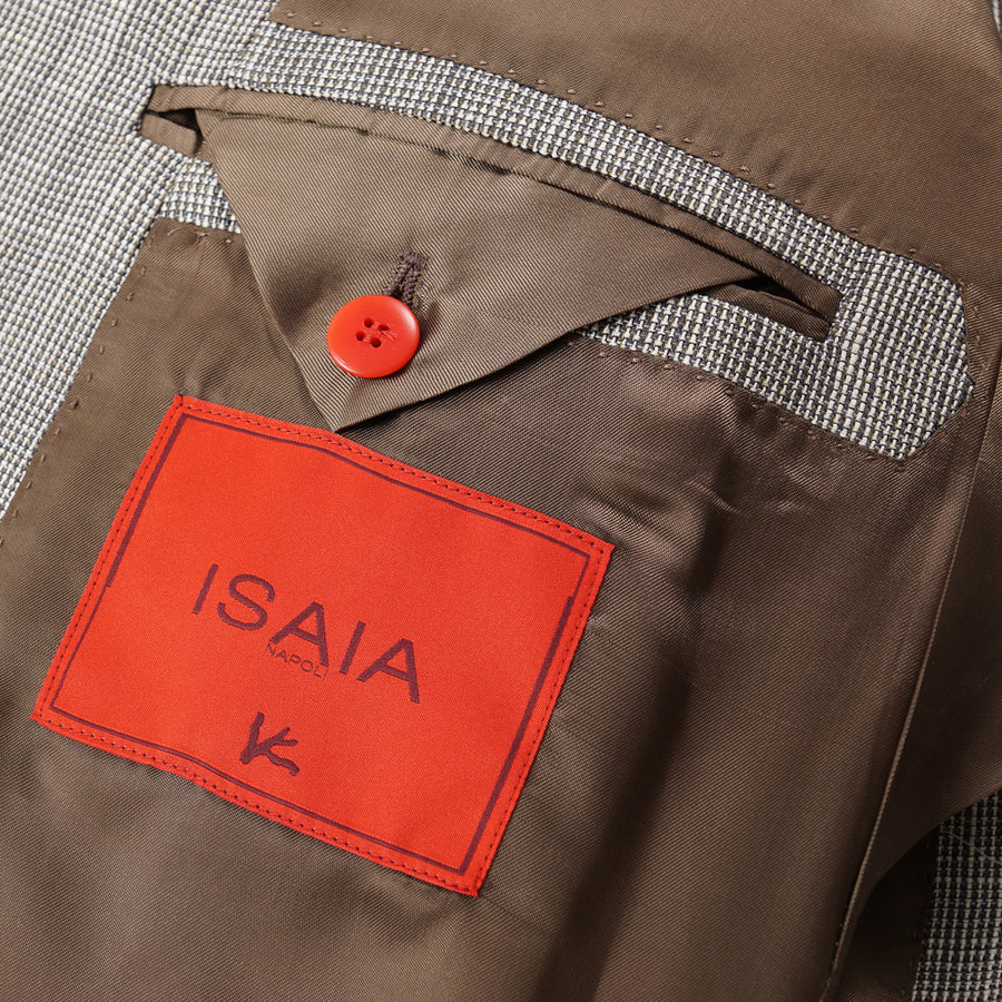 Isaia Wool-Silk-Linen Sport Coat