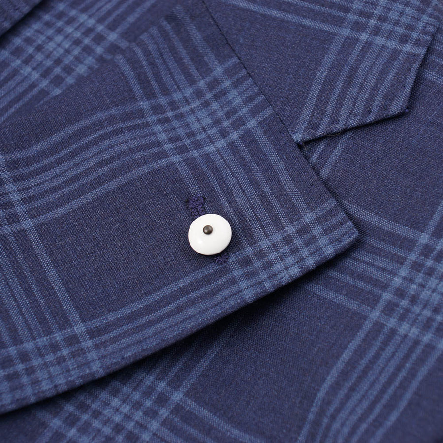 L.B.M. 1911 Blue Check Lightweight Wool Sport Coat