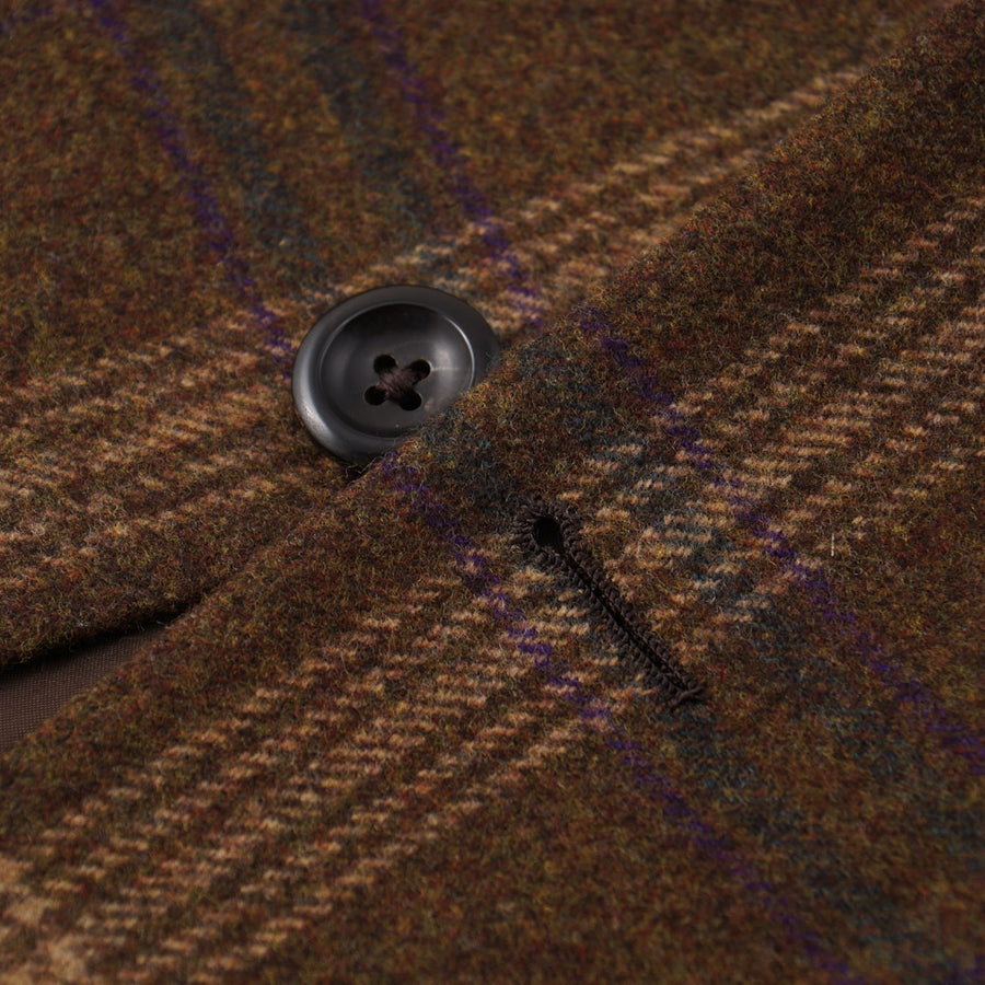 Oxxford Olive Plaid Cashmere Sport Coat