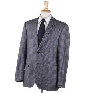 Oxxford Gray and Blue Check Wool Sport Coat