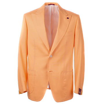 Sartoria Partenopea Wool Sport Coat with Peak Lapels