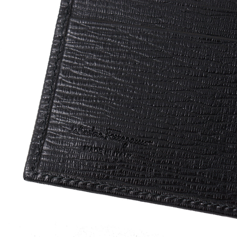 Ferragamo Textured Leather Slim Wallet - Top Shelf Apparel