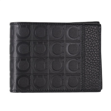 Ferragamo Gancini Print Leather Wallet
