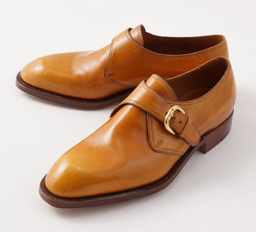 Silvano Lattanzi Monk Strap in Golden Tan