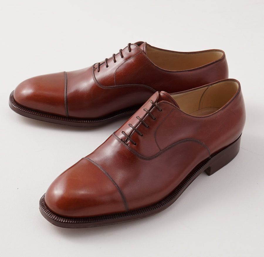 Silvano Lattanzi Cap Toe Balmoral in Chestnut Brown