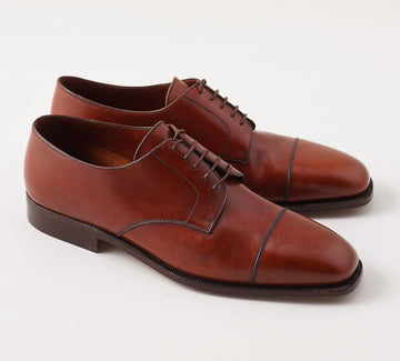 Silvano Lattanzi Cap Toe Derby in Chestnut Brown