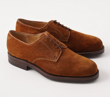 Silvano Lattanzi Plain Toe Derby in Snuff Suede