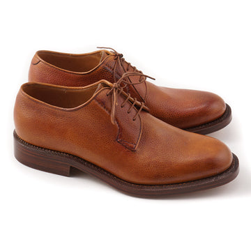 Silvano Lattanzi Derby in Tan Pebble Grain Leather