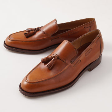 Silvano Lattanzi Tassel Loafer in Acorn Brown